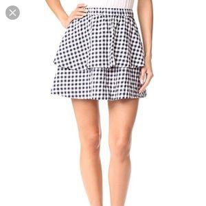 Madewell Gingham Tiered Miniskirt - Size XXS